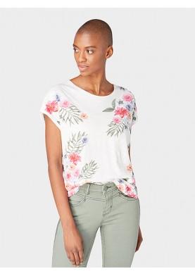 Tom Tailor dámské triko s květinami