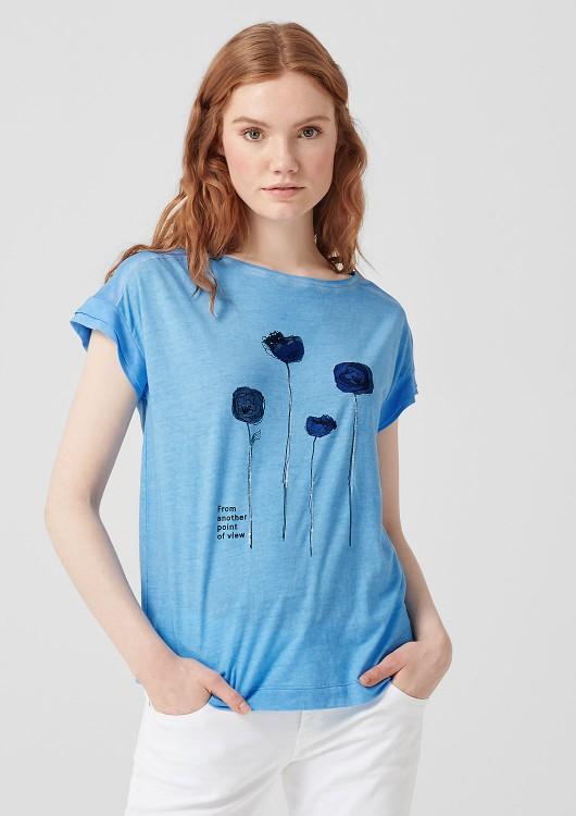 s.Oliver dámské triko s potiskem a flitry