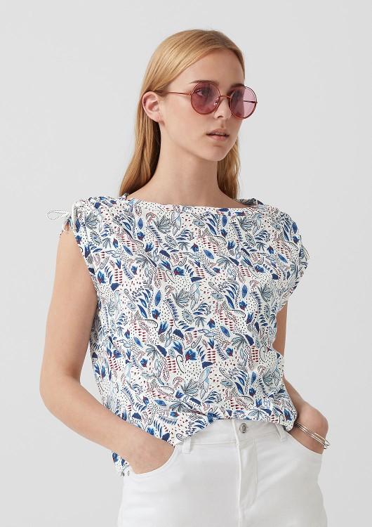 s.Oliver dámské triko s květinovým potiskem