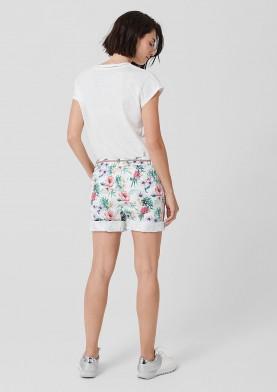 s.Oliver dámské šortky s květinovým potiskem