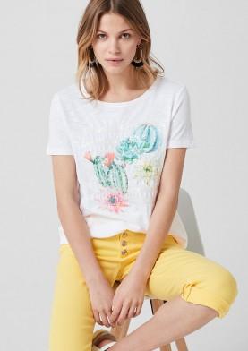 s.Oliver dámské tričko s květinovým potiskem