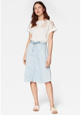 Mavi džínová sukně
