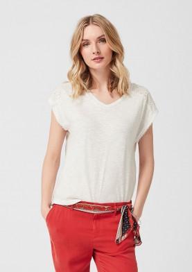 s.Oliver dámské tričko s krajkou
