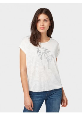 Tom Tailor dámské triko s palmou