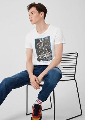 s.Oliver Q/S pánské triko s natištěnou fotografií