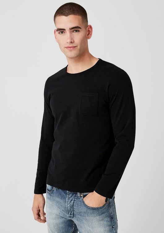 s.Oliver pánské jednobarevné triko s dlouhým rukávem