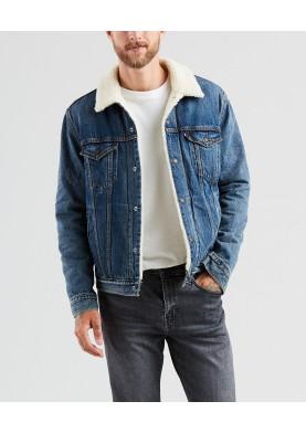 Levis pánská džínová bunda s kožíškem