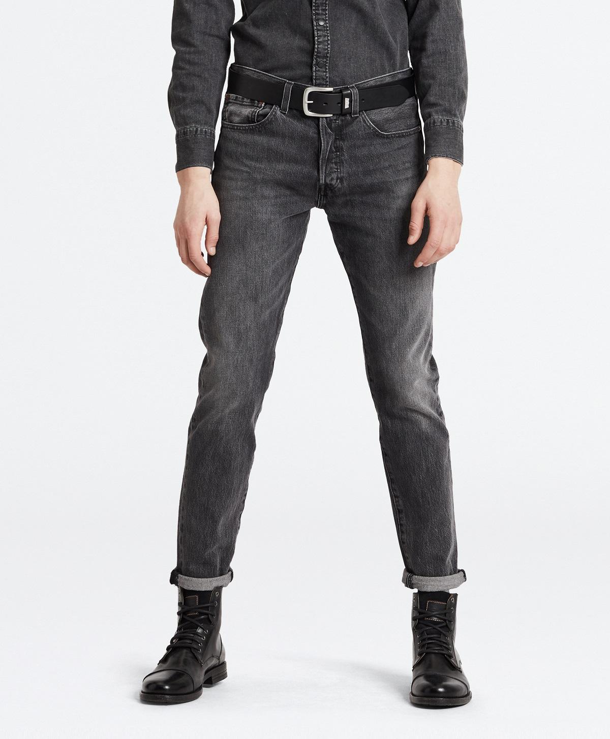 Levis pánské džíny 501® SLIM TAPER 28894-0169 Černá W36/L32