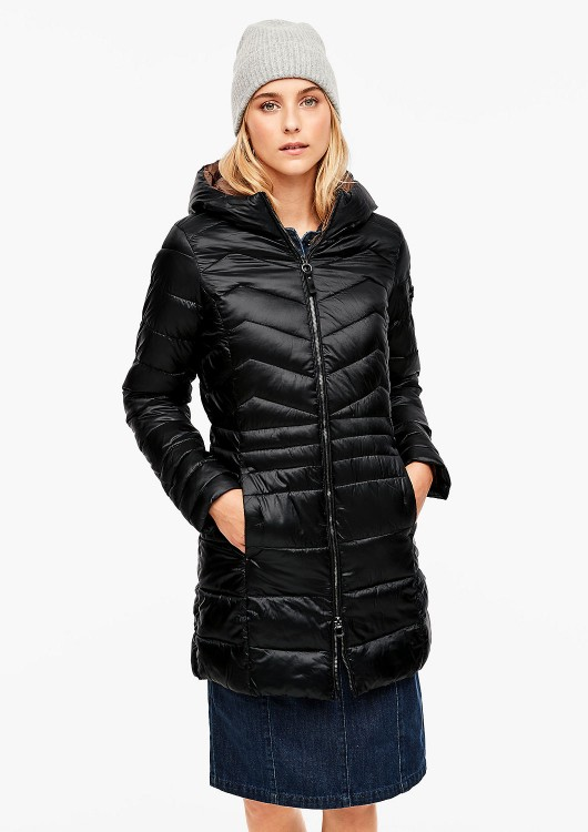 s.Oliver dámský zimní kabát s kapucí