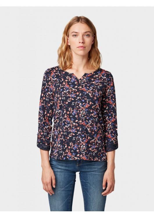 Tom Tailor dámské tričko s květinovým potiskem