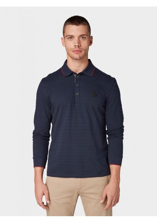 Tom Tailor pánské polo triko s dlouhým rukávem
