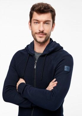 s.Oliver spotovní svetr s kapucí