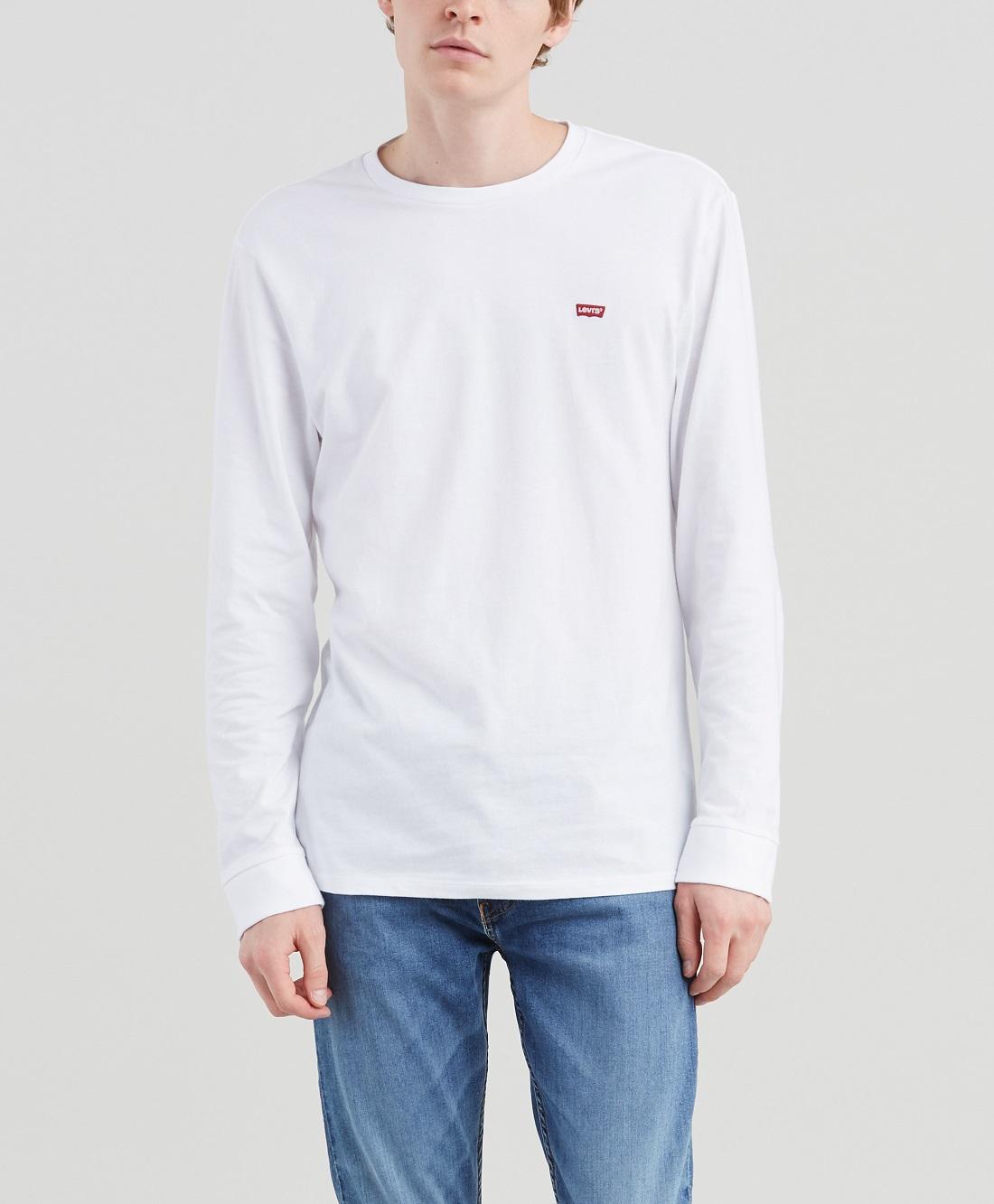 Levis pánské triko s dlouhým rukávem 72848-0000 Bílá XXL