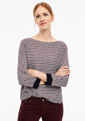 s.Oliver dámský svetr s žakárovým vzorem