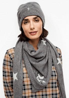 s.Oliver zimní šátek s kvězdami