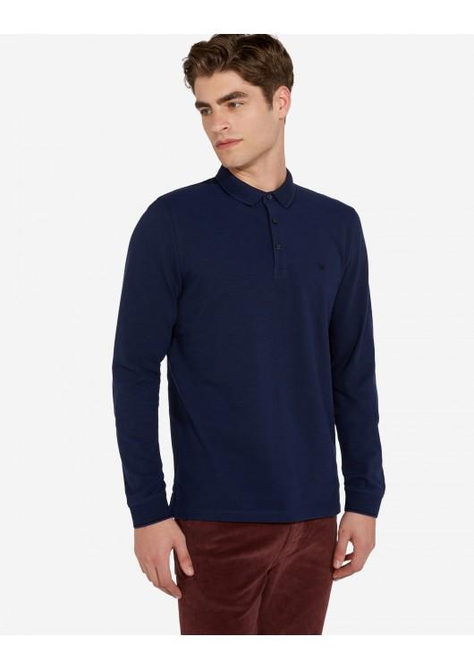 Wrangler pánské triko s límečkem a dlouhým rukávem