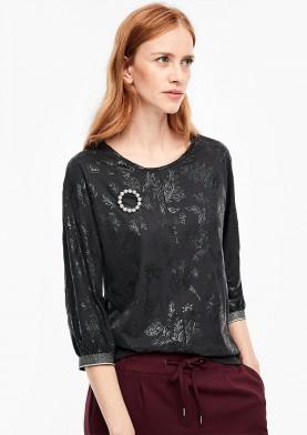 s.Oliver tričko s netopýřími rukávy a třpytivým lemem