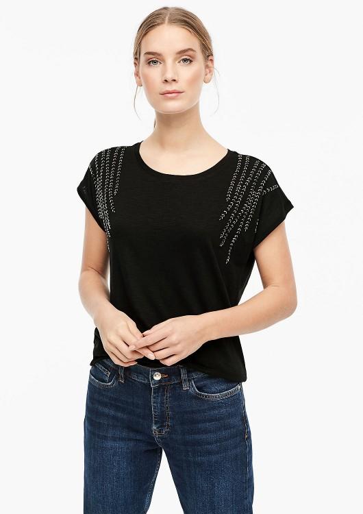 s.Oliver dámské tričko s ozdobnými kamínky