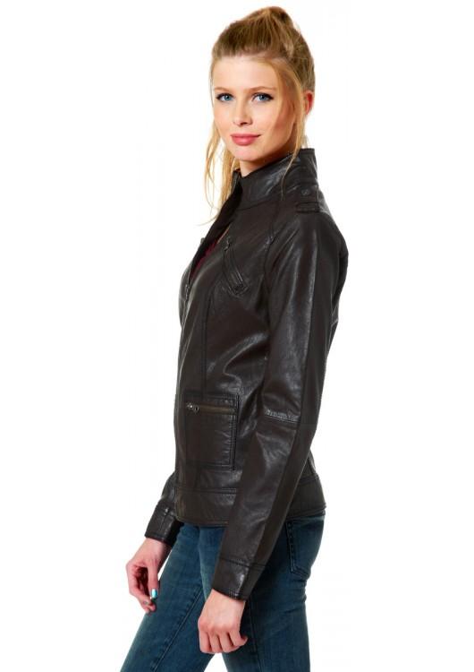 Tom Tailor Denim dámská kožená bunda 35198520010 1000 - Superjeans.cz ff8942cd8a0