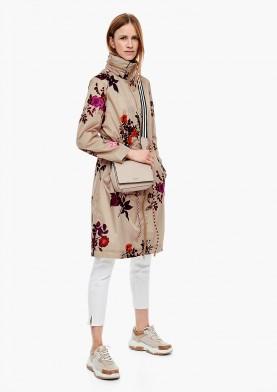 s.Oliver jarní dámský kabát s květinovým potiskem