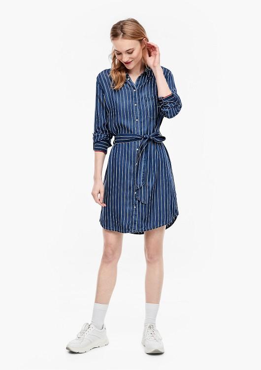 s.Oliver lehké džínové šaty