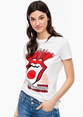 s.Oliver Q/S tričko s kapelou Rolling Stones