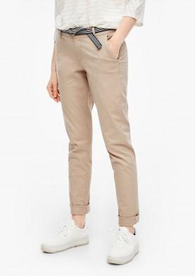 s.Oliver plátěné chino kalhoty s páskem