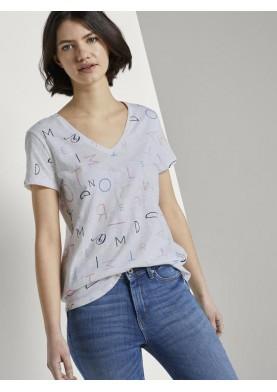 Tom Tailor Denim dámské tričko s výstřihem