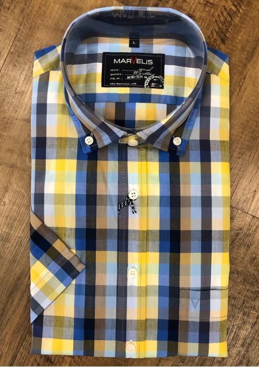Marvelis volnočasová košile s krátkým rukávem