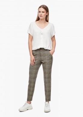 s.Oliver kostkované kalhoty v kotníkové délce
