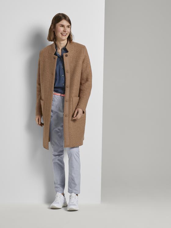 Tom Tailor dámský podzimní kabát 1020582/13261 Hnědá XL