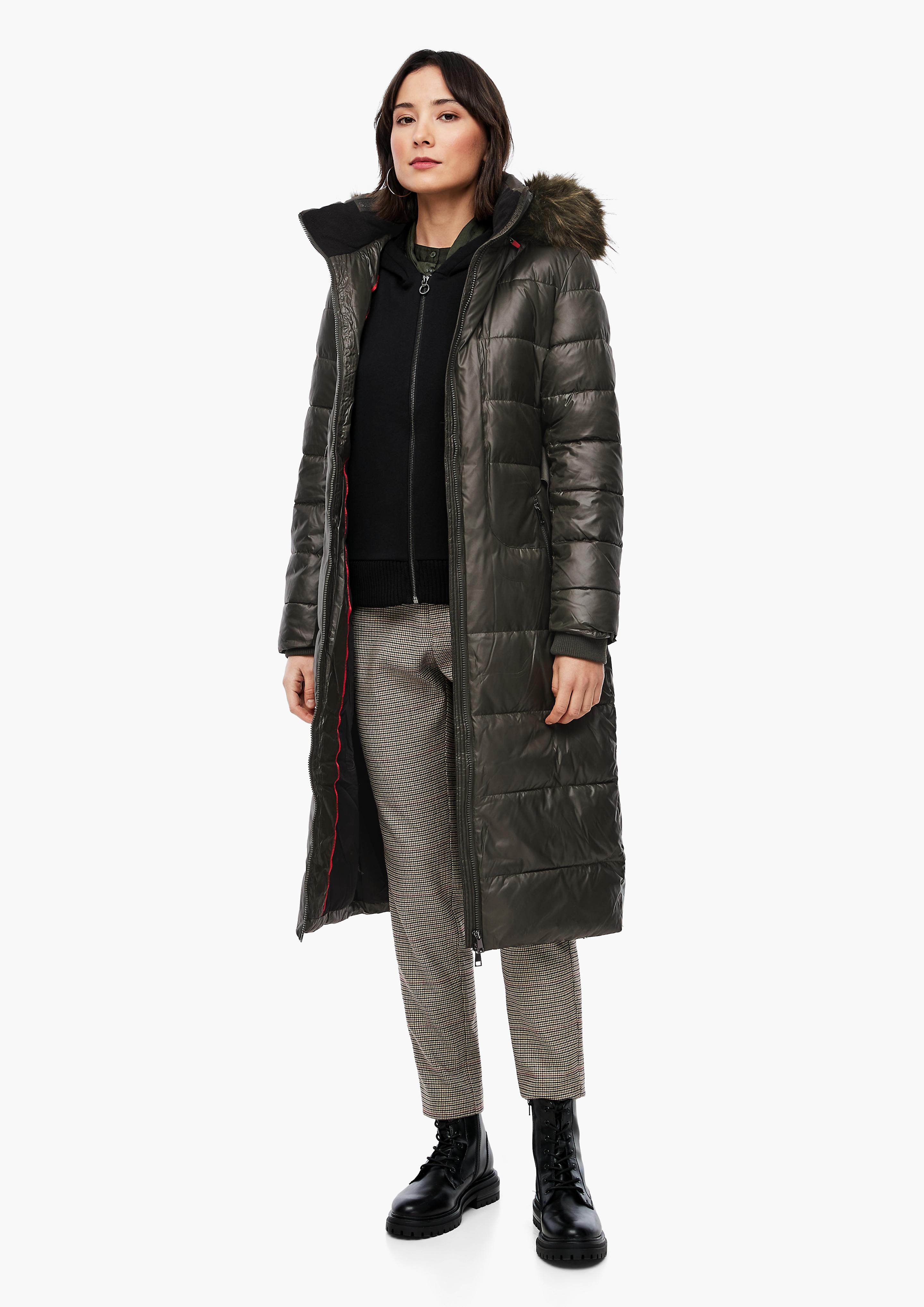 s.Oliver dámský zimní kabát 05.010.52.3609/7972 Zelená 40