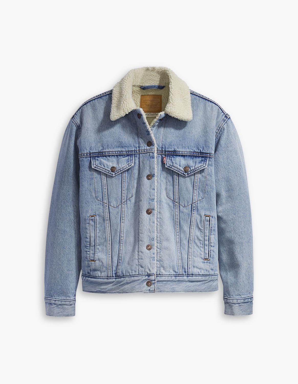 Levis džínová bunda s kožíškem 36137-0026 Modrá S