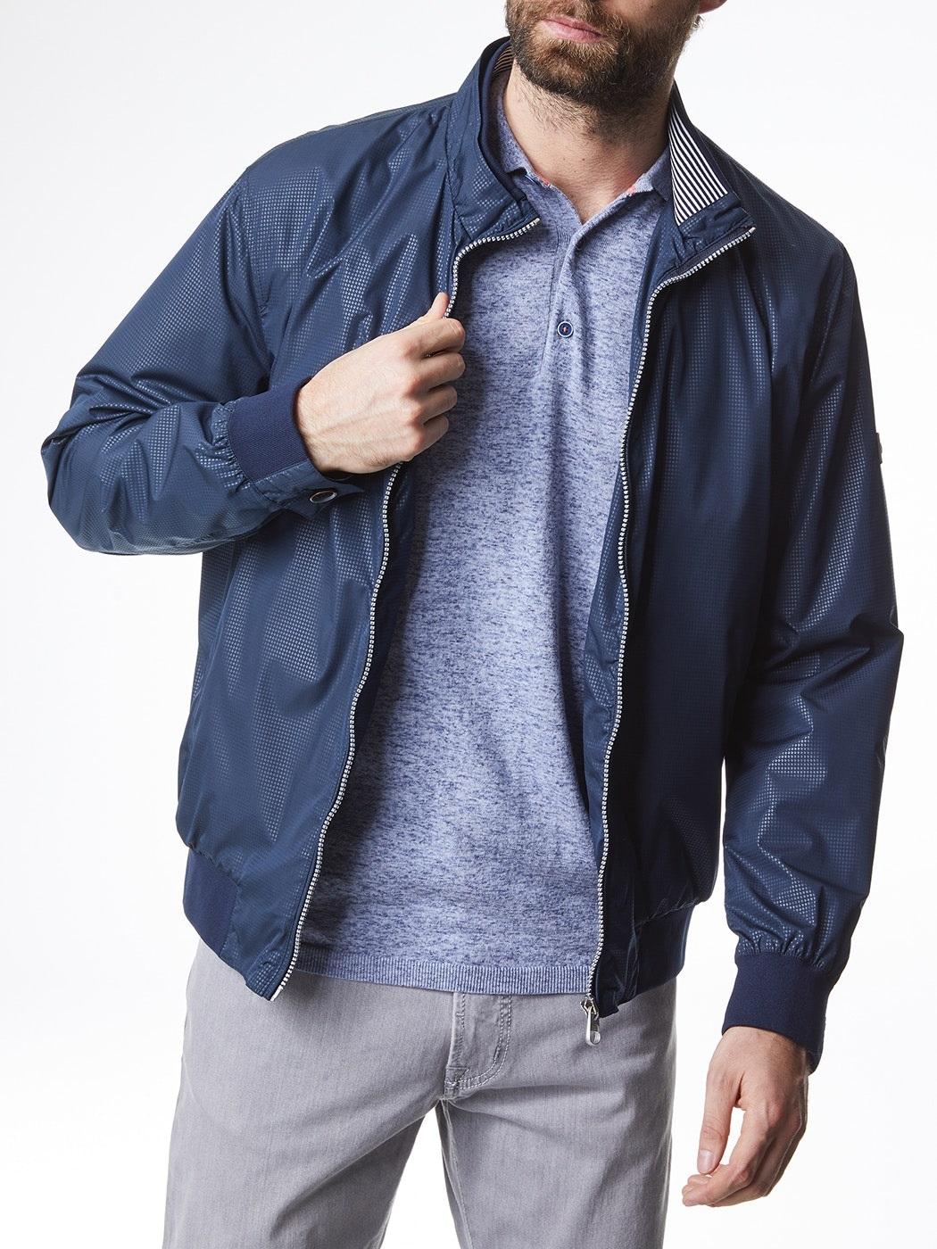 Pierre Cardin pánská jarní bunda Blouson 4601/3000 Modrá 60