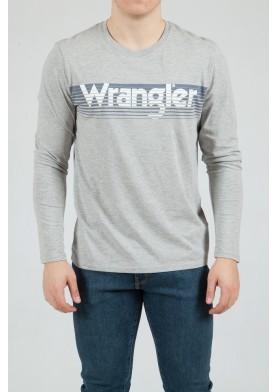 Wrangler pásnké triko s dlouhým rukávem