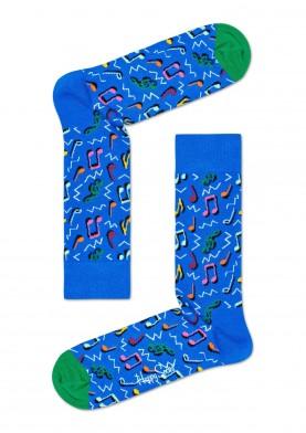 Happy Socks barevné ponožky s notami
