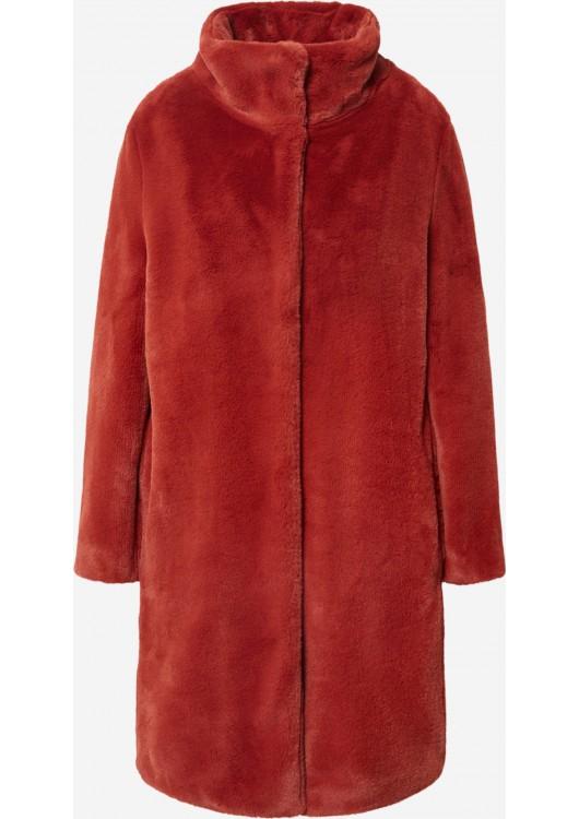 s.Oliver plyšová kabát z imitace kožešiny