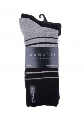 Bugatti pánské ponožky sada 2 páry