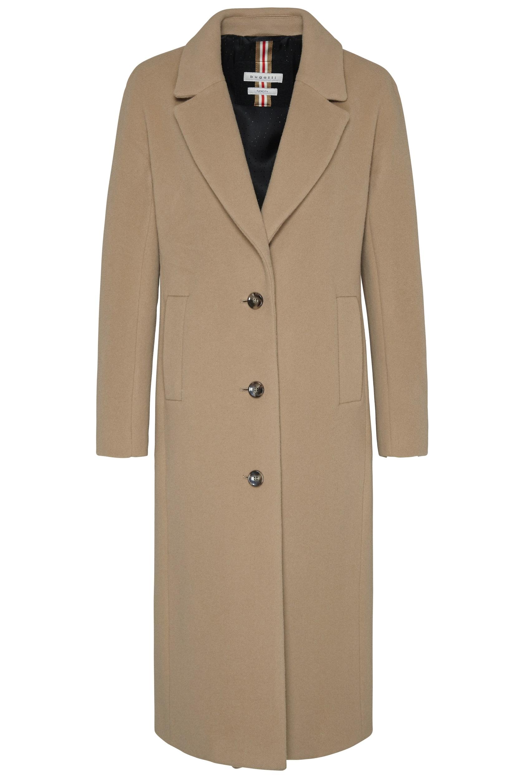 Bugatti dámský vlněný kabát 64019/70 Hnědá 36