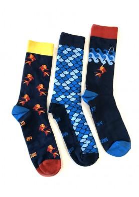 A Fish Named Fred pánské ponožky 3 páry