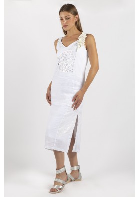 Elisa Cavaletti dámské letní lněné šaty