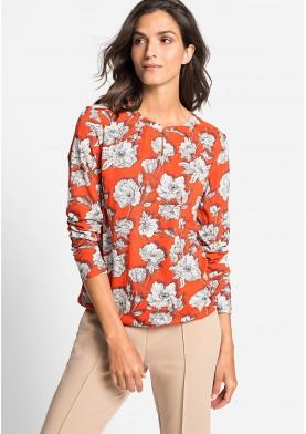 Olsen dámské triko s květinovým potiskem