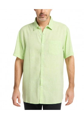 Pioneer pánská lněná košile s krátkým rukávem