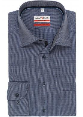 Marvelis pánská košile Modern Fit s prodlouženým rukávem