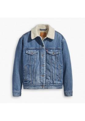 Levis dámská džínová bunda s kožíškem