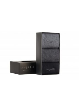 Bugatti pánské ponožky 3 páry v dárkové krabičce