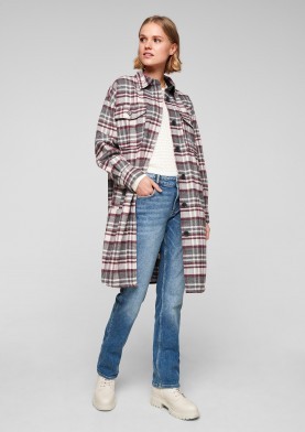 s.Oliver Q/S dámský károvaný kabát