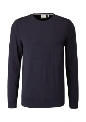 s.Oliver jemný pulovr s vlnou merino