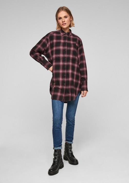 s.Oliver Q/S dámská dlouhá károvaná košile