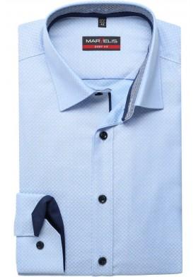 Marvelis Body Fit pánská košile s prodlouženým rukávem